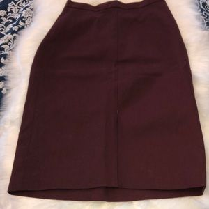 Banana Republic Maroon/Wine Pencil Skirt Sz 2P
